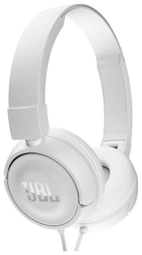 JBL T450 On-ear Wired Headphone ( White )
