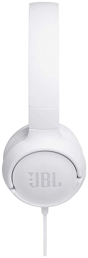JBL T500 Over-ear Wired Headphone ( White )