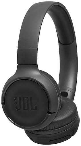 JBL T500BT Powerful Bass Wireless On-Ear Headphones with Mic (Black)