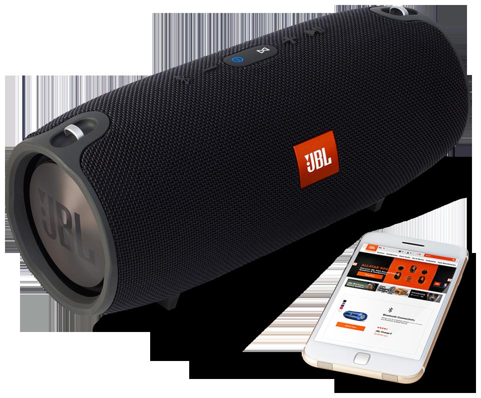 JBL Xtreme Wireless Portable Bluetooth Speaker (Black, Stereo Channel)
