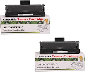 JK Toners 101 Toner Cartridge Compatible For Samsung Series (Black) (Pack of 2)