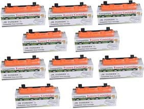 JK TONERS 1020/ TN-1020 Black Toner Cartridge Compatible with Brothr HL-1111/1201/ 1211W/ DCP-1511/1514/ 1601/ 1616NW/ MFC-1811/1814/ 1911NW (Pack of 10)