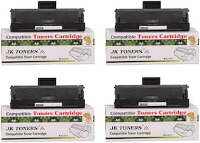 JK Toners 101 Toner Cartridge Compatible For Samsung Series (Black) (Pack of 4)