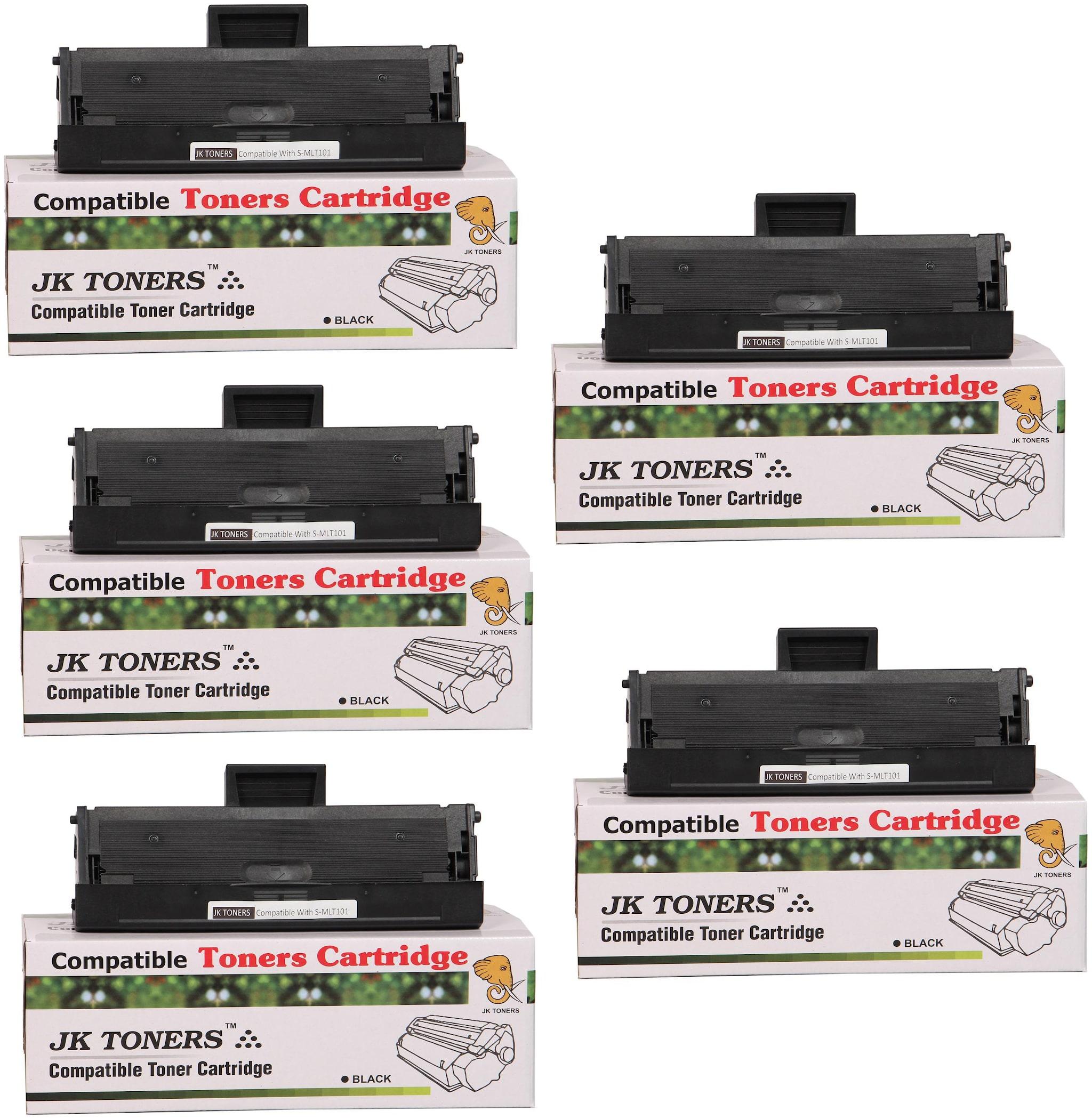 JK Toners 101 Toner Cartridge Compatible For Samsung Series  Black   Pack of 5