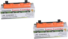 JK TONERS 1020/ TN-1020 Black Toner Cartridge Compatible with Brothr HL-1111/1201/ 1211W/ DCP-1511/1514/ 1601/ 1616NW/ MFC-1811/1814/ 1911NW (Pack of 2)