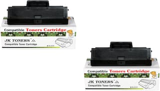 JK TONERS 1043 Compatible Toner Cartridge for Samsung ML-1600/1660/1665/1666/1670/1675/1676/1676P/1860/1865/1865W/1866/1866W, Scx-3200/3201/3201G/3205/3205W/3206W/3218 (MLT-D1043S) (Pack of 2)
