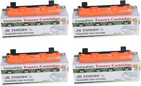 JK TONERS 1020/ TN-1020 Black Toner Cartridge Compatible with Brothr HL-1111/1201/ 1211W/ DCP-1511/1514/ 1601/ 1616NW/ MFC-1811/1814/ 1911NW (Pack of 4)