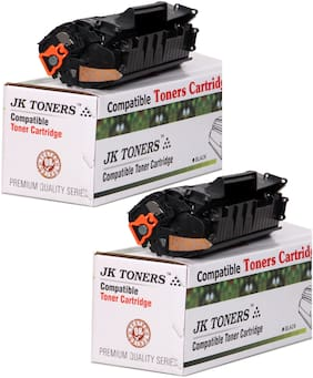 JK TONERS 12A X / Q2612A X Toner Cartridge (upto 4000 pages print) Compatible with 12A / Q2612A Hp 1010 M1005 Mfp Series(PACK 2)