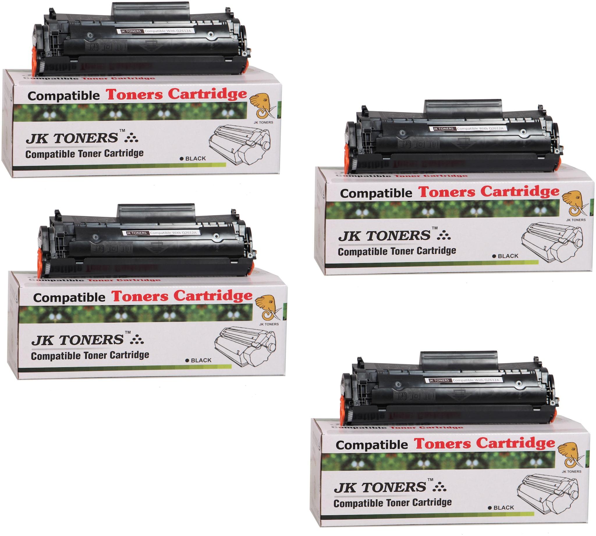 JK Toners 12A Toner Cartridge Compatible for HP LaserJet   1010 1012 1015 1018 1020 1022 1022n 3020 3030 3050 3052 3055 M1005 M1319f Single Color Ink