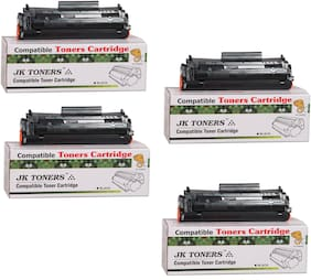 JK Toners 12A Toner Cartridge Compatible for HP LaserJet - 1010 1012 1015 1018 1020 1022 1022n 3020 3030 3050 3052 3055 M1005 M1319f Single Color Ink Toner
