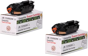 JK Toners 12A Black Toner Cartridge Compatible for HP LaserJet -12a, 1010 1012 1015 1018 1020 1022 1022n 3020 3030 3050 3052 3055 M1005 M1319f Single Color Ink Toner