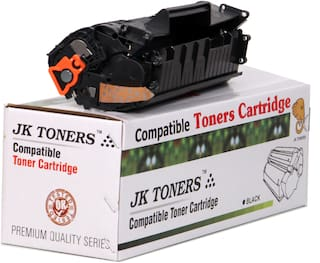 JK Toners 12A Black Toner Cartridge Compatible for HP LaserJet- 1010 1012 1015 1018 1020 1022 1022n 3020 3030 3050 3052 3055 M1005 M1319f Single Color Ink Toner