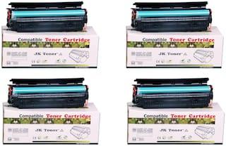 JK Toners 88A Black Toner Cartridge Compatible for HP LaserJet - Single Color Ink Toner  (Black) (Pack of 4)