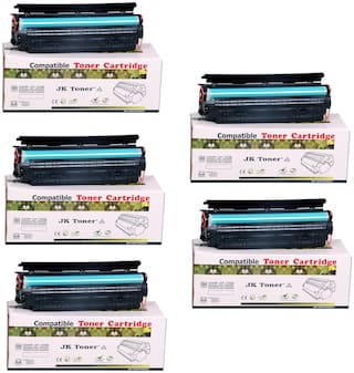 JK Toners 88A Black Toner Cartridge Compatible for HP LaserJet - Single Color Ink Toner  (Black) (Pack of 5)