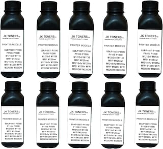 JK Toners  88A Black Toner Compatible for HP LaserJet - P1007, P1008, P1106, P1108, M202, M202n, M202dw, M126nw Single Color Ink Toner  (Black) (Pack of 10)