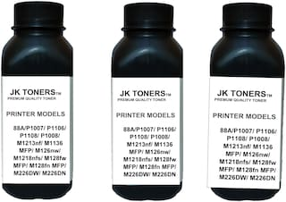 JK Toners  88A Black Toner Compatible for HP LaserJet - P1007, P1008, P1106, P1108, M202, M202n, M202dw, M126nw Single Color Ink Toner  (Black) (Pack of 3)