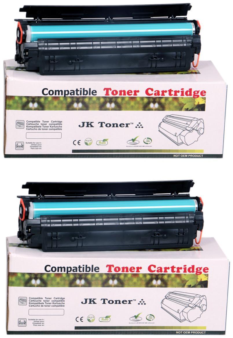 JK Toners 88A Black Toner Cartridge Compatible for HP LaserJet   Single Color Ink Toner   Black   Pack of 2