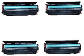 JK TONERS 925 Toner Cartridge Compatible for Use In Canon-Laser Shot LBP6018B (Pack of 4)