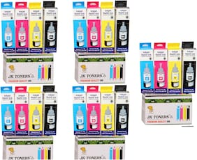 Jk Toners Ink Bottles Compatible With Epson L100 / L110 / L130 / L200 / L210 / L220 / L300 Multi Color Ink