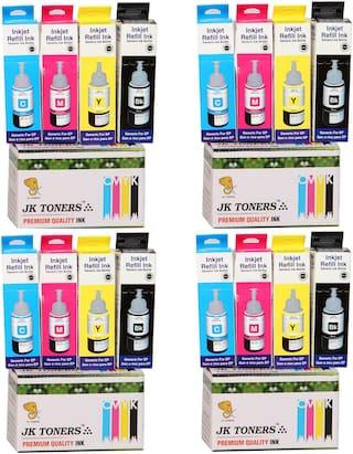 Jk Toners Ink Bottles Compatible With Epson L100 / L110 / L130 / L200 / L210 / L220 / L300 Multi Color Ink