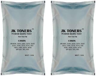 Jk Toners Ir 400,3300,3570,4570,6570,5000,6000 Copier,Super Dark Single Color Ink Toner  (Black) (Pack of 2)