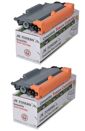 JK TONERS TN 2260/2280 Cartridge Compatible with Brther HL-2215/2235 / 2220/2225 / 2230/2240 / 2242D / 2250/2260 / 2270DW / 2275DW / MFC7360 / 7362N / 7460DN (Pack of 2)