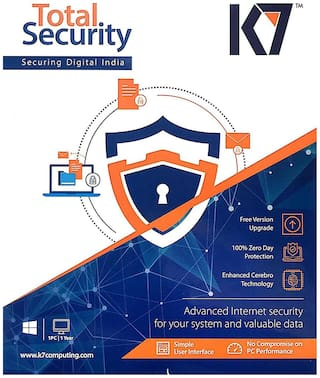 K7 Total Security ( 1 PC , 1 yr ) Security Softwares
