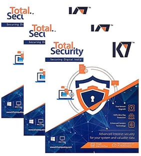K7 Total Security Anti-Virus Software 2016 - 3 Users, 1 Year Latest Version (CD)