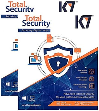 K7 Total Security Anti-Virus Software 2016 - 2 Users, 1 Year Latest Version (CD)