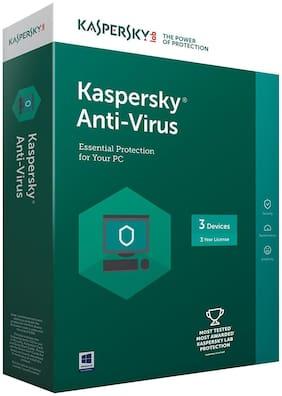 Kaspersky Anti-Virus Latest version - 3 PCs, 3 Years