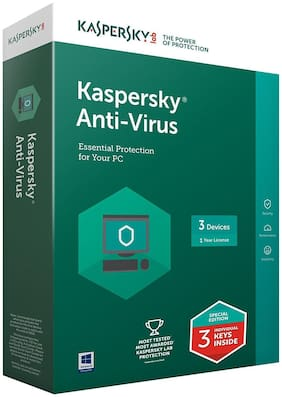 Kaspersky Anti Virus ( 1 PC , 3 yr )