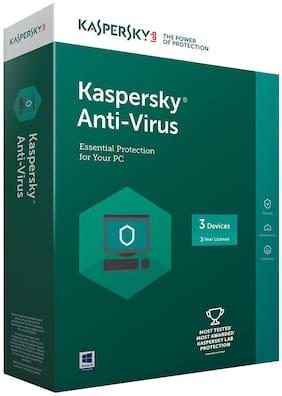 Kaspersky Anti Virus ( 3 PC , 3 yr ) Security Softwares
