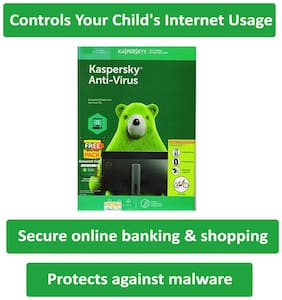 Kaspersky Antivirus 1pc 3year version 2019, Secure not slow, Easy to use