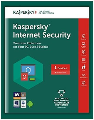 Kaspersky Internet security ( 3 pc , 1 year )