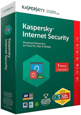 Kaspersky Internet Security Multi-Device - 3 Users, 1 Year