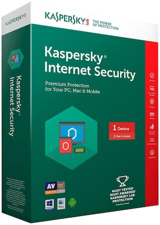 Kaspersky Internet Security ( 1 PC , 3 yr ) Security Softwares