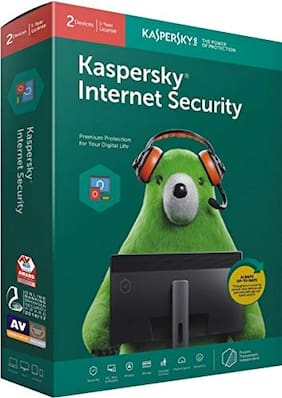 Kaspersky Internet Security ( 2 PC , 1 yr ) Security Softwares
