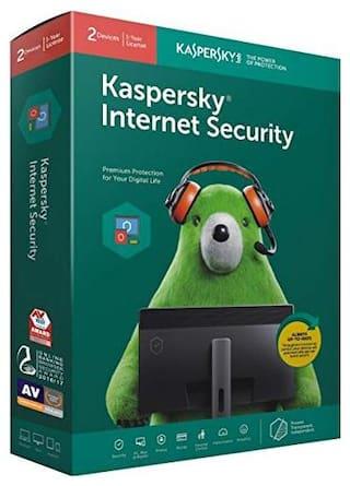 Kaspersky Internet Security 2016 (2 User/1 Year) 2 Installation Cds & 2 Serial Keys