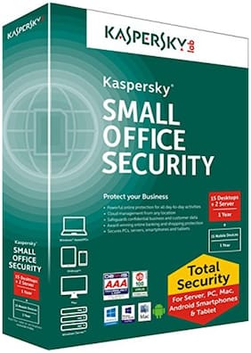 Kaspersky Small Office Security 15 PCs + 2 File Server + 15 Mobile Devices (CD)