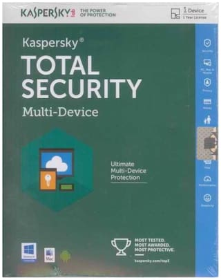 Kaspersky Total Security ( 2 PC , 3 yr ) Security Softwares