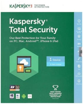 Kaspersky Total Security Protection 1 Year 1 User