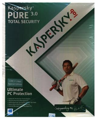 Kaspersky Total Security ( 1 PC , 1 yr ) Security Softwares