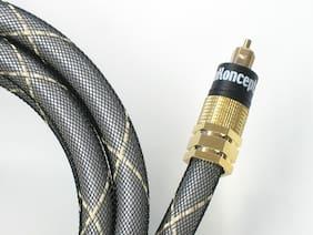 KnuKonceptz eKs Digital Toslink Audio Fiber Optic Cable Optical S/PDIF Wire 16'