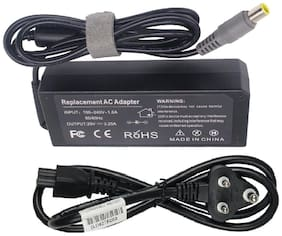 Laplogix Laptop Charger for IBM Lenovo 20V 3.25A 65W Adapter With Power Cord Cable