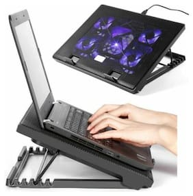 """NEW Laptop Cooling Cooler Pad Stand 5 Fan  Computer Mat for 11""""-16"""" Notebook @"""