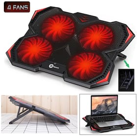 """Laptop Notebook Cooling Fan Cooler Pad Computer Stand Chill Mat For 14""""-15.6"""" PC"""