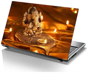Laptop Sticker (Shri ganesha Surface Covering Area 38.1cm x 25.4cm (15 x 10 inch))