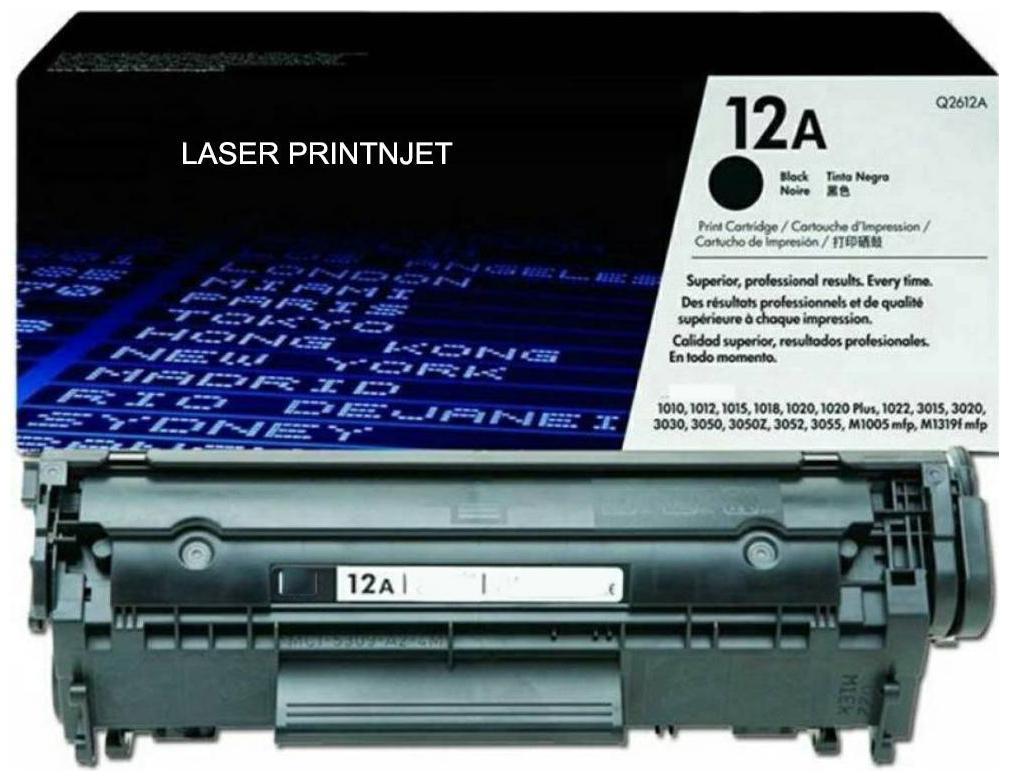 LASER PRINTJET Hp 12A Toner Cartridge Single Color Toner  Black