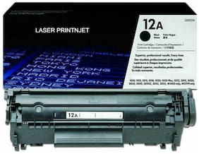 Hp 12A Toner Cartridge Single Color Toner ( Black)