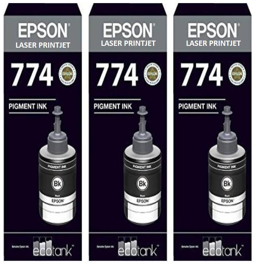Laser Printjet Epson compatible Ink T7741 Black Ink Pack of 3 For M100/200 Single Color Ink  Black  by S S Traders